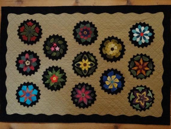 wool applique block of the month