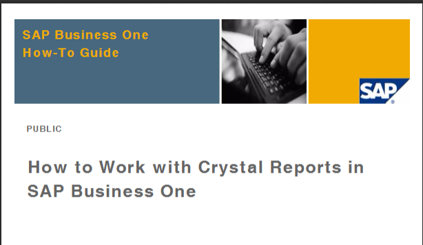 sap certified application associate crystal reports