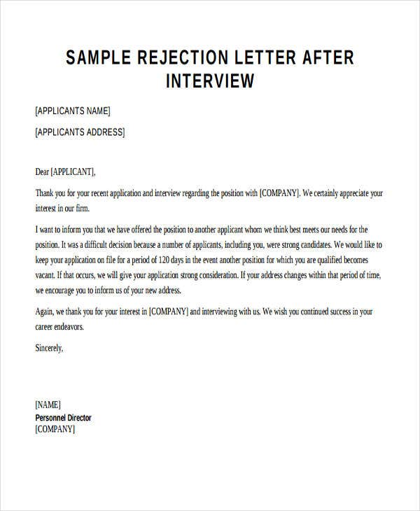 sample application letter for employment