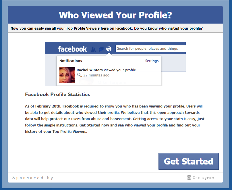 application to see who views my facebook profile