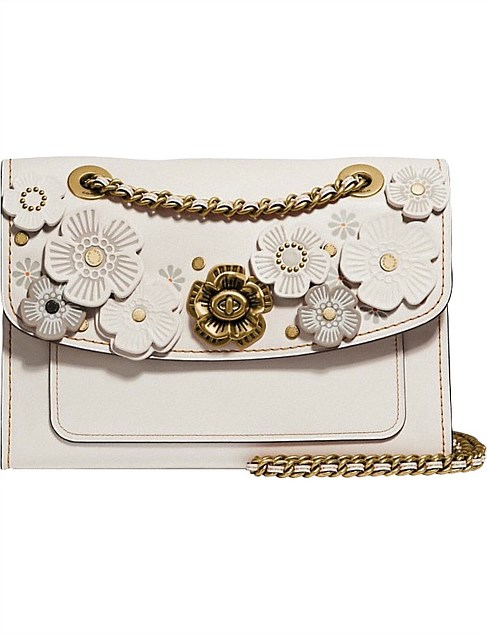 coach tea rose applique bag