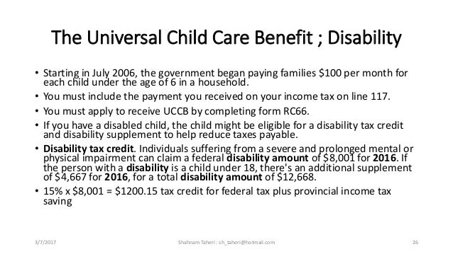 child tax benefit application form rc66