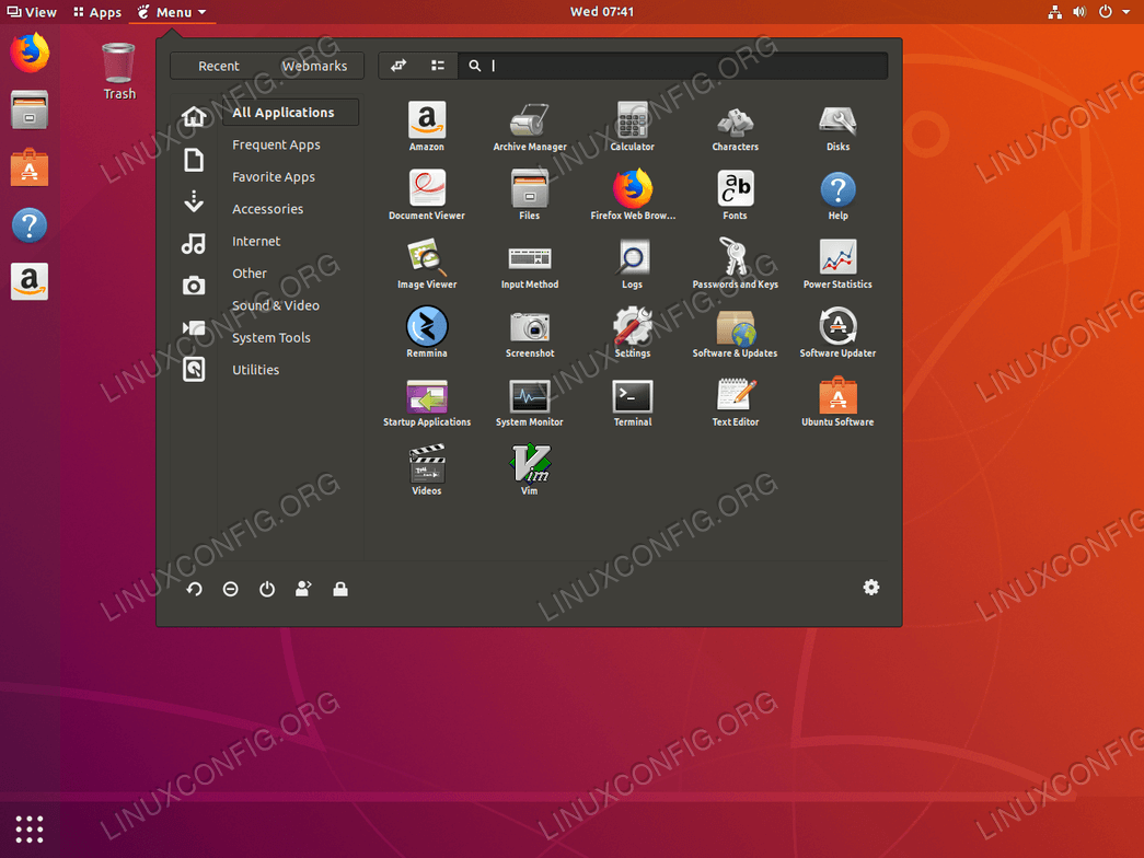 ubuntu add application to menu