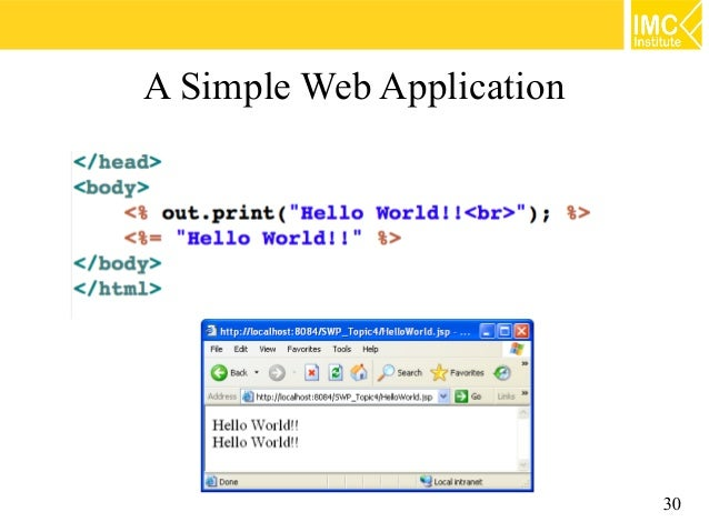 a simple web application using jsp and servlet