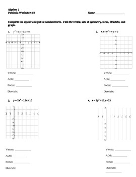 applications of quadratic equations worksheet