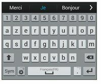 application android clavier physique azerty