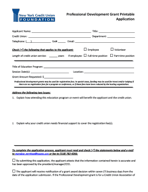 part time grant application form