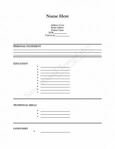 microsoft word job application form template