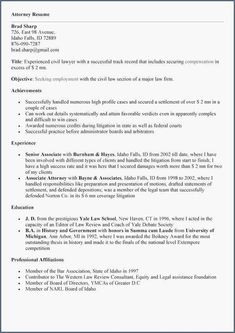 law school application resume sample