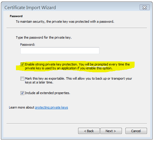 an application is requesting access to a protected item