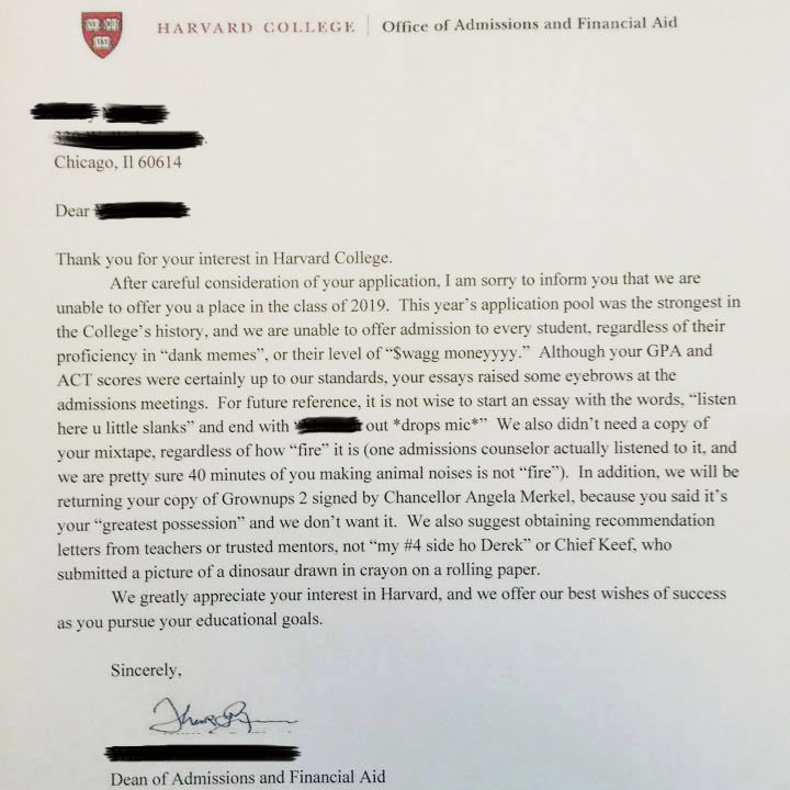 application letter for working student in college