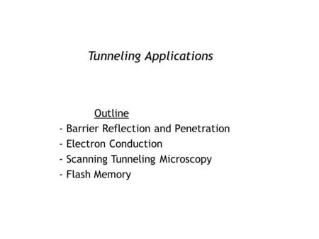 applications of quantum mechanics ppt