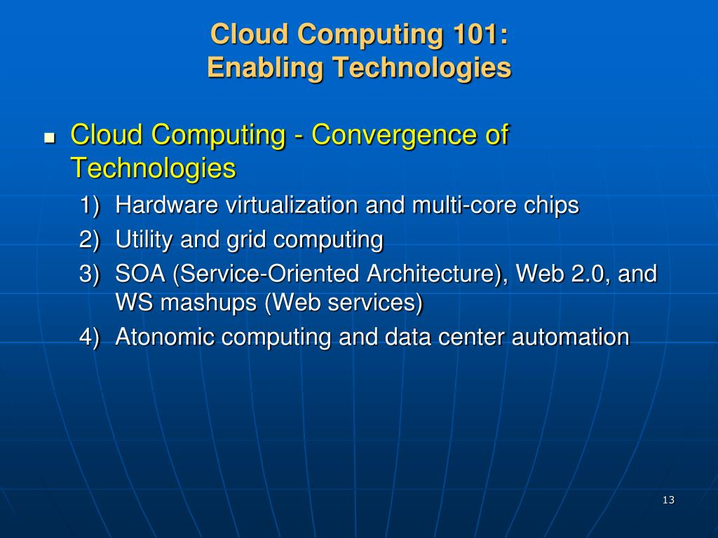 cloud computing technologies and applications