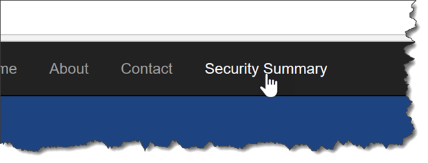 security in asp net application