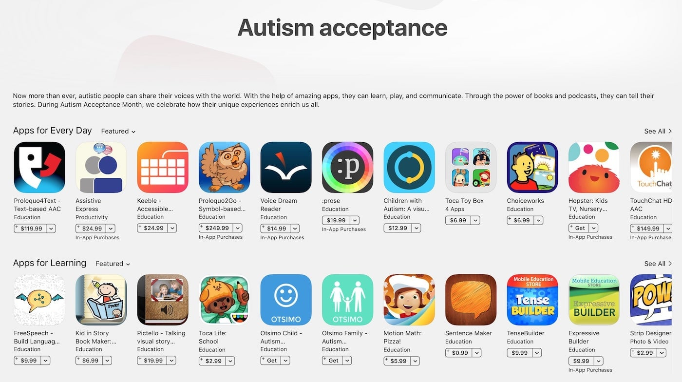 applications pour autistes en francais
