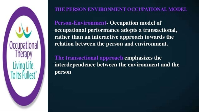 application of the person environment occupation model a practical tool