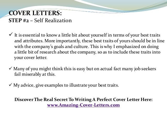 the best cover letter for job application