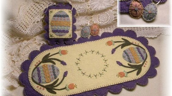 free primitive wool applique patterns