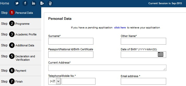 how to apply online application