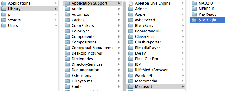 how to go to application support on mac