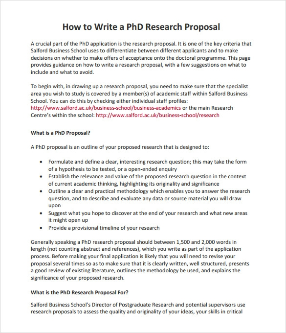 phd application research proposal sample