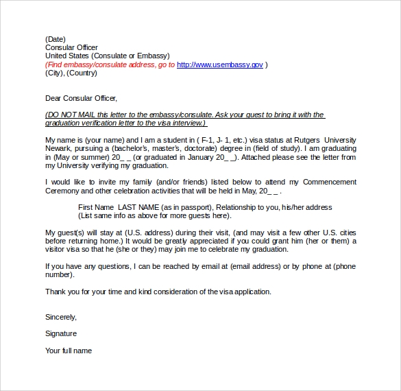 sample letter of explanation for visitor visa application