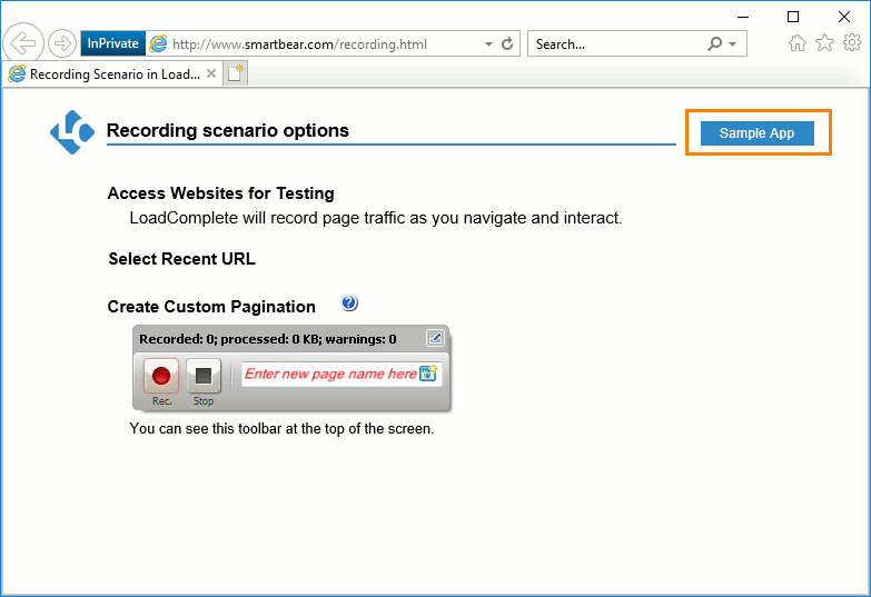 sample test scenarios for web application