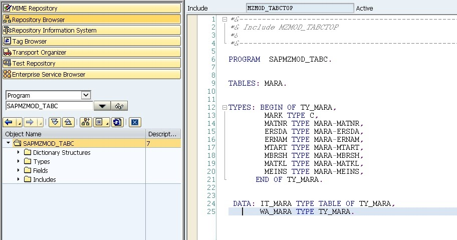 sap system application and product in data processing