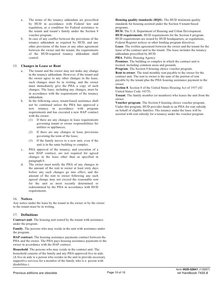 section 8 housing application status